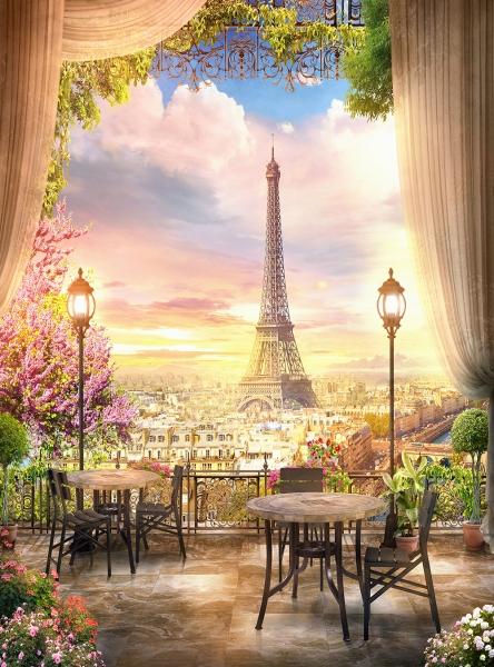 Кафе в Париже 200х270 см