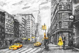 Нью-Йорк живопись  400х270 см