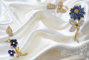 Драгоценности синие  400х270 см