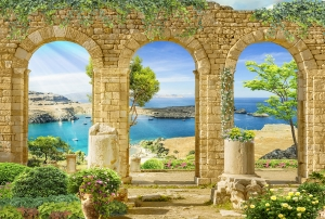 Море за арками  400х270 см