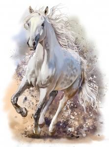 Белый конь живопись  200х270 см