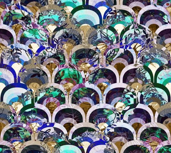 Фотообои/H коллекцияФиолетовый принт  300х270 см