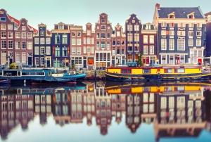 Фотообои/E коллекцияКанал Амстердама 400х270 см