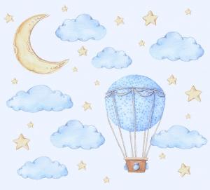 Фотообои/K коллекцияЧудесный сон голубой 300х270 см