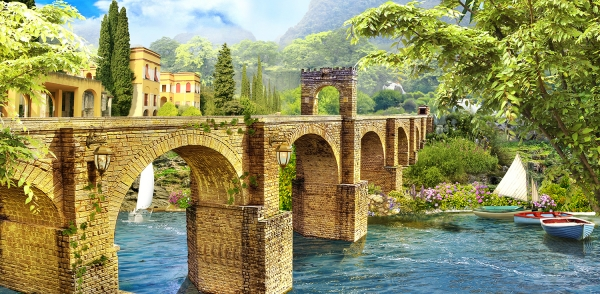 Фотообои/K коллекцияСтаринный мост 300х147 см
