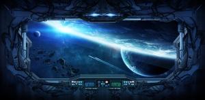 Фотообои/K коллекцияУ астероидов 300х147 см