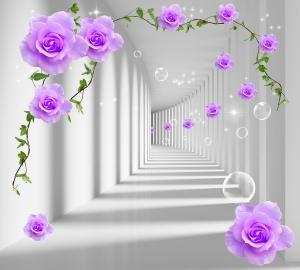 Фотообои/L КоллекцияТуннель с розами 300х270 см