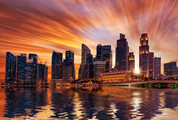 Фотообои/P коллекцияЗакат над Сингапуром 400х270