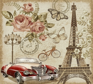 Фотообои/P коллекцияОткрытка из Парижа 300х270