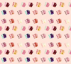 Фотообои/P коллекцияЯпонские коты (розовый) 300х270