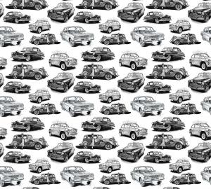 Фотообои/P коллекцияРетро-автомобили (белый) 300х270