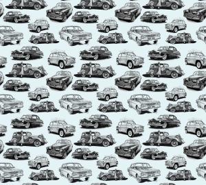 Фотообои/P коллекцияРетро-автомобили (голубой) 300х270