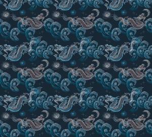 Фотообои/P коллекцияДраконы японские (синий) 300х270