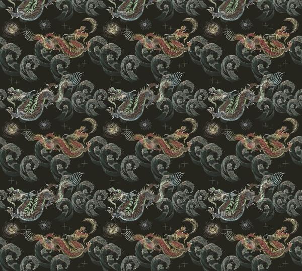 Фотообои/P коллекцияДраконы японские (темно-зеленый) 300х270