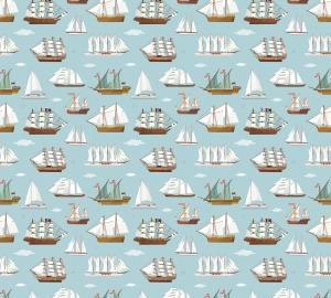 Фотообои/P коллекцияСтарые корабли (голубой) 300х270