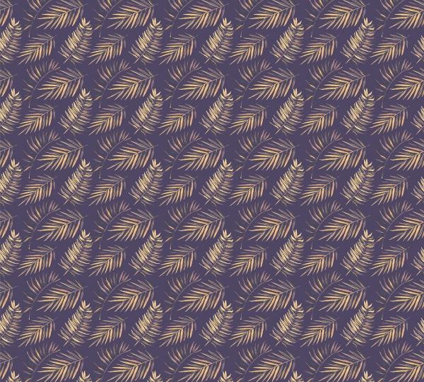 Фотообои/P коллекцияПальмовые листья (синий) 300х270