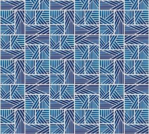 Фотообои/P коллекцияОрнамент-полосы (синий) 300х270