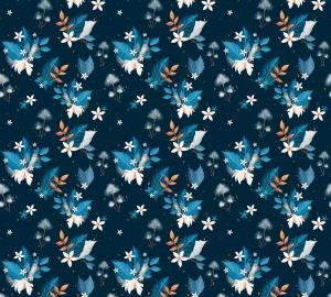 Фотообои/P коллекцияЦветы-звездочки (синий) 300х270