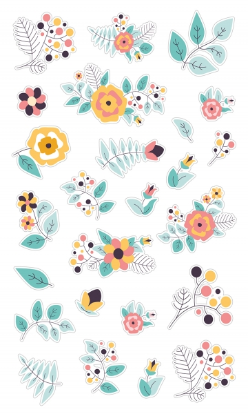 Нежные цветочки 30х50 см