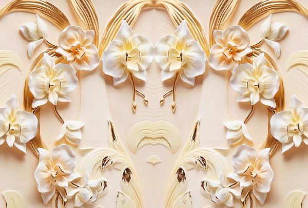 Фотообои/T коллекцияОрхидеи на стене 400х270
