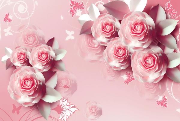 Фотообои/T коллекцияКрупные розовые розы 400х270