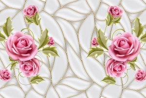 Розовые розы 400х270