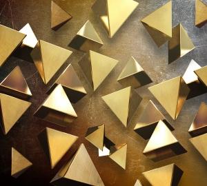 Фотообои/T коллекцияЗолотые пирамиды  300х270