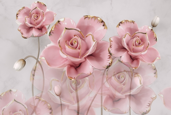 Фотообои/T коллекцияКерамические розы  400х270