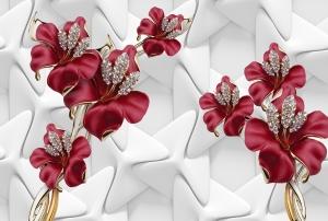 Фотообои/T коллекцияКрасные цветы   400х270
