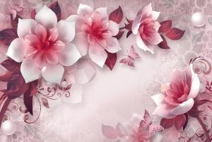 Фотообои/T коллекцияРозовые керамические цветы 400х270
