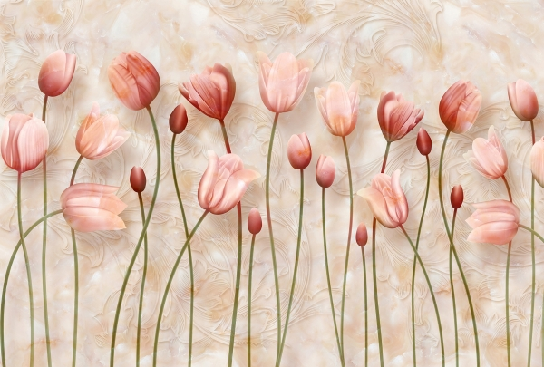 Фотообои/T коллекцияРозовые тюльпаны 400х270