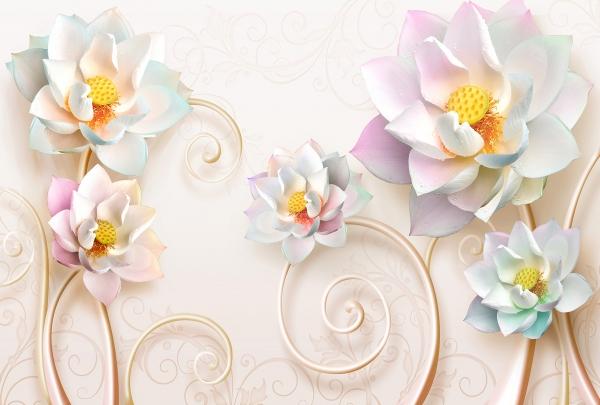 Цветы с вензелями 400х270
