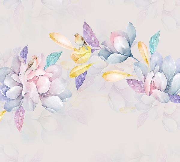 Фотообои/T коллекцияАкварельные цветы 300х270