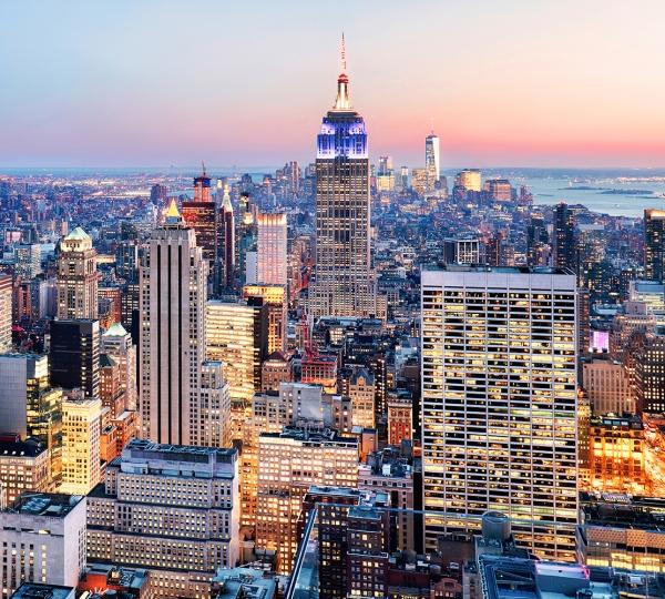Фотообои/T коллекцияЗакатное небо над Нью-Йорком 300х270