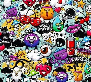 Граффити микс 300х270 см