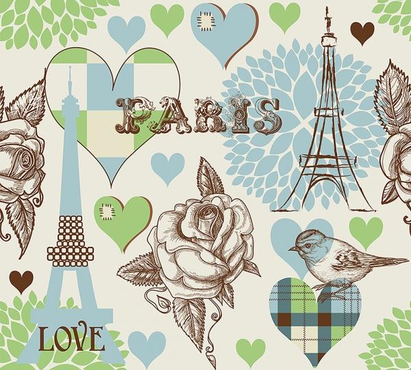 Париж принт 300х270 см