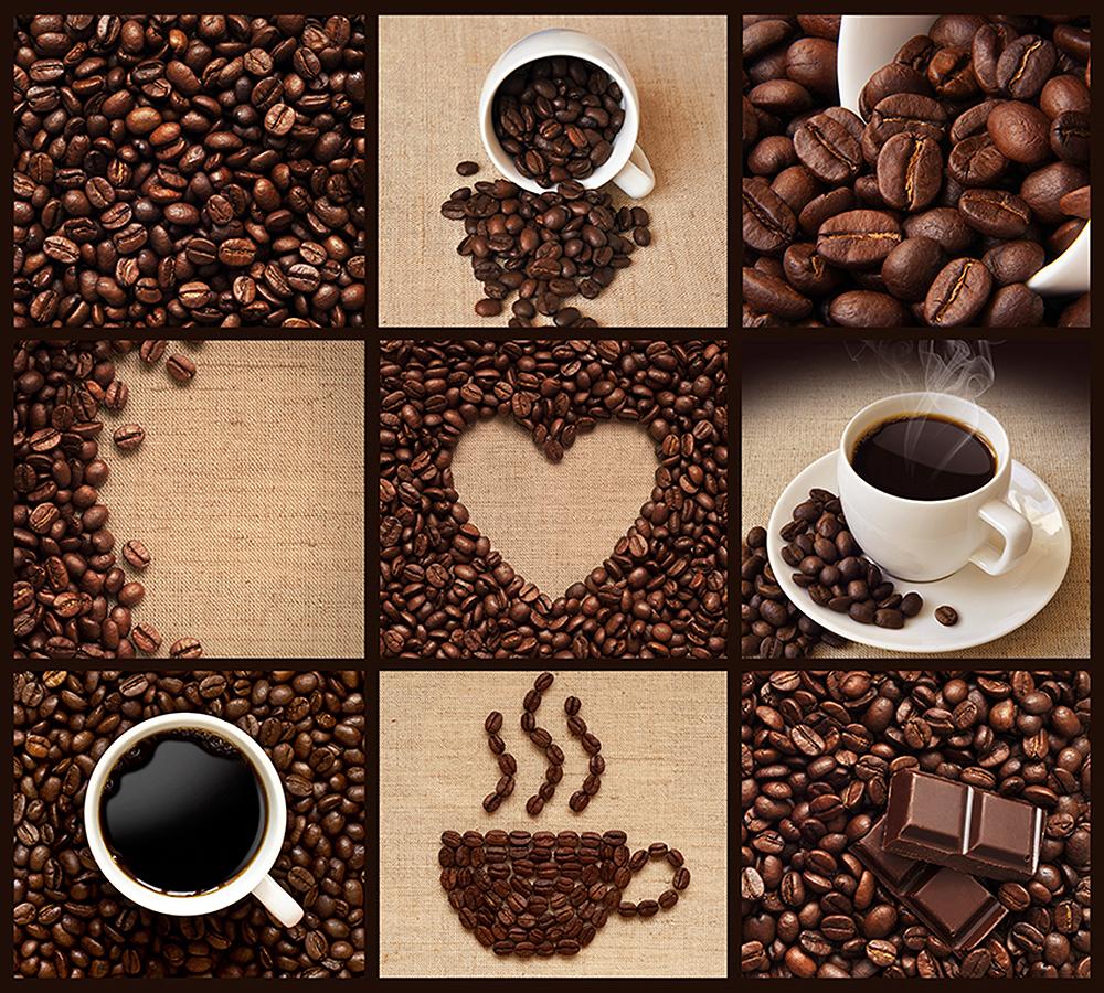 постер из кофейных зерен ступеней