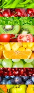 Фрукты и овощи 100х270 см