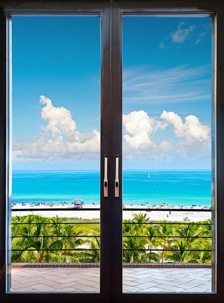 Вид на пляж 200х270 см