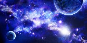 Космические фракталы 300х147 см