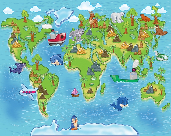 Детская карта 300х238 см