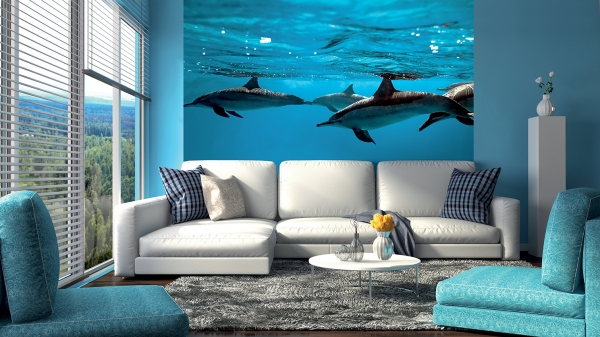 Дельфины 2 300х238 см