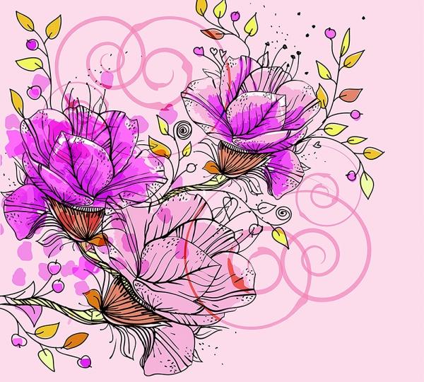 Цветы 300х270 см