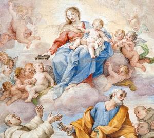 Пресвятая Дева Мария фреска 300х270 см