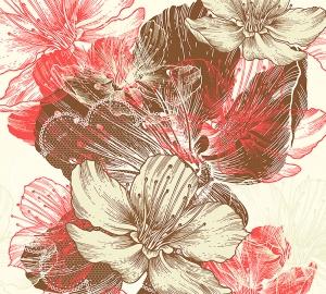Цветы иллюстрация 300х270 см