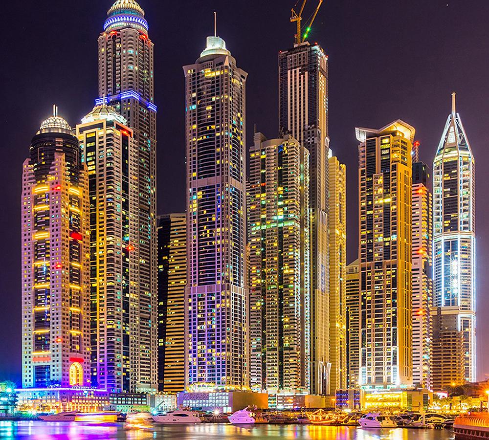 один популярный фото города дубай ночью получения жилья