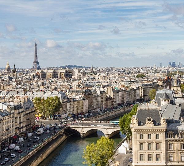 Фотообои/C коллекцияВид на Париж 300х270 см