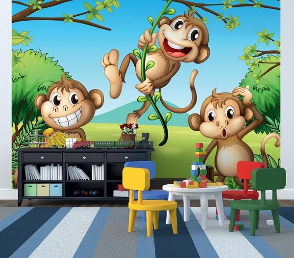 Фотообои/C коллекцияТри обезьянки 300х270 см