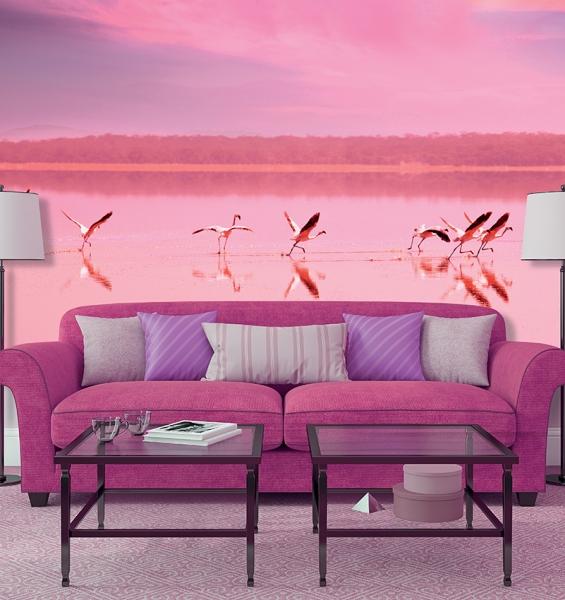 Фламинго на закате 300х270 см