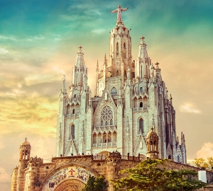 Фотообои/C коллекцияЦерковь в Барселоне 300х270 см